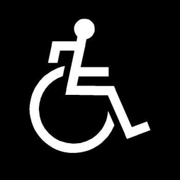 """Mi propuesta: Pictograma de""""discapacitado activo"""""""