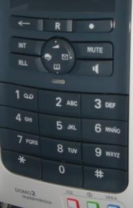 teclado del telefono Domo2 de Telefonica