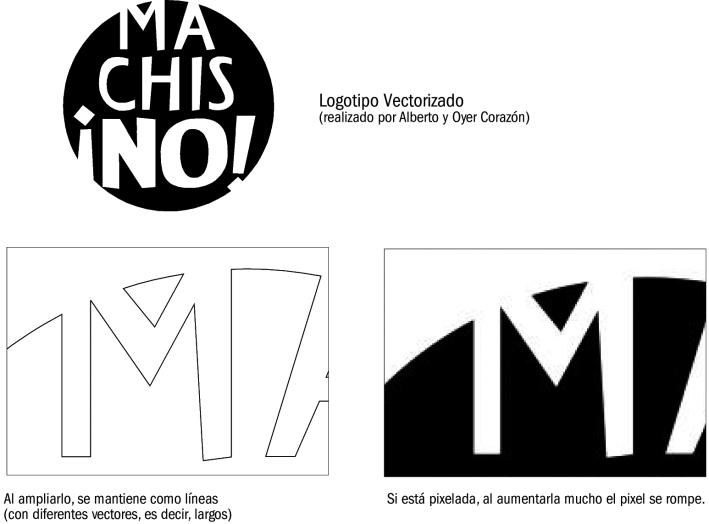 Un mismo logo como vector y como pixel